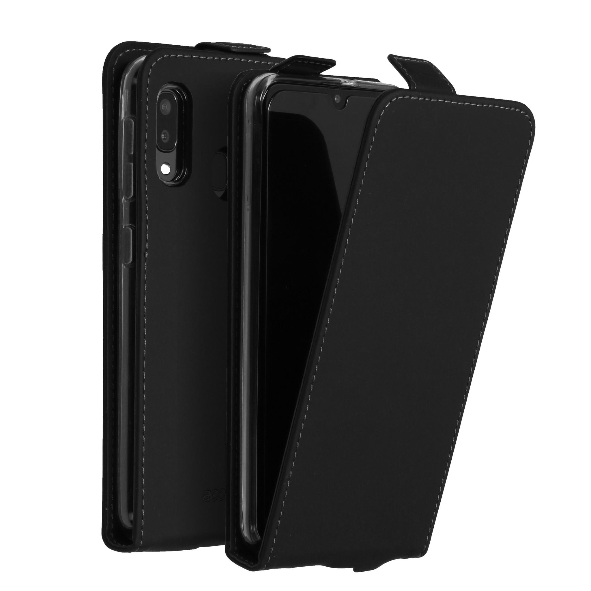 Accezz Flip Case Schwarz für das Samsung Galaxy A20e