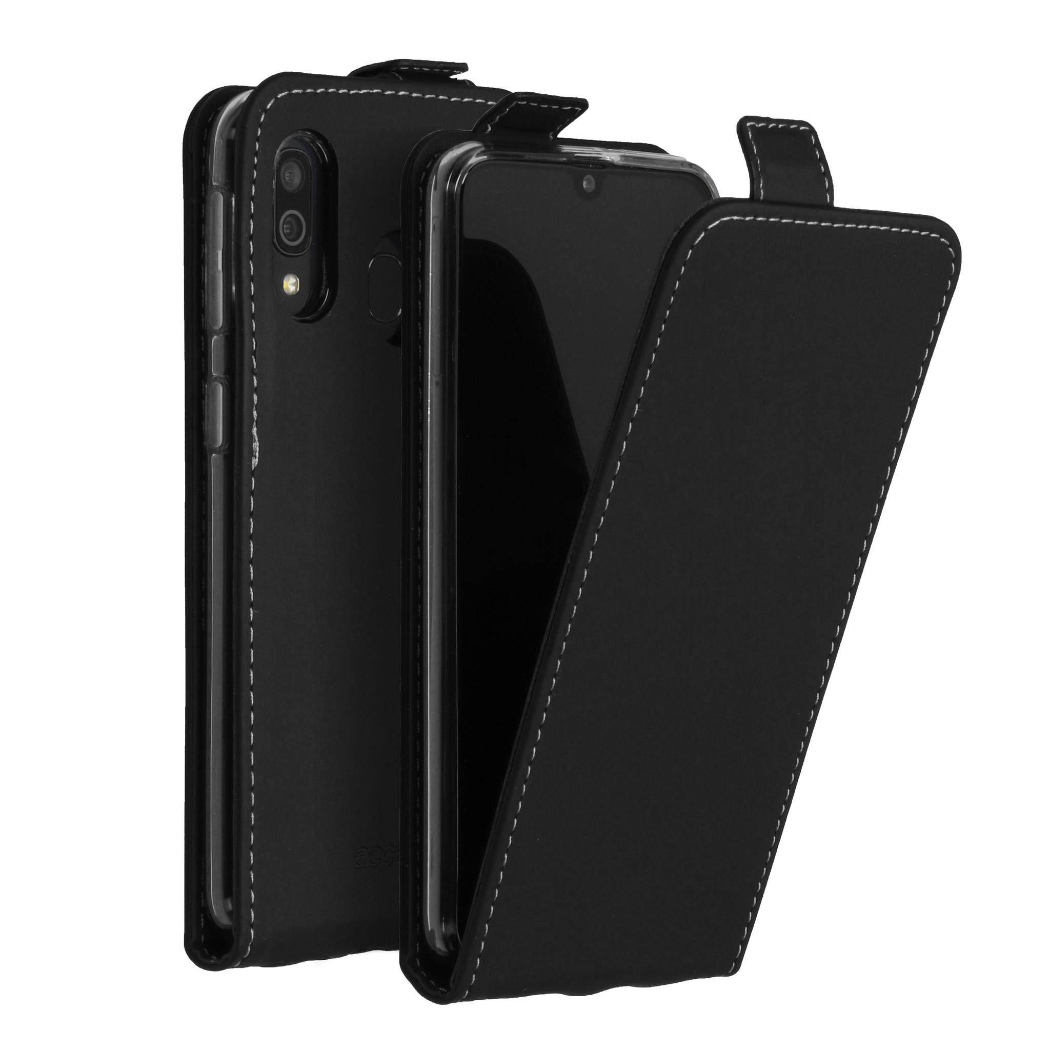 Accezz Flip Case Schwarz für das Samsung Galaxy A40