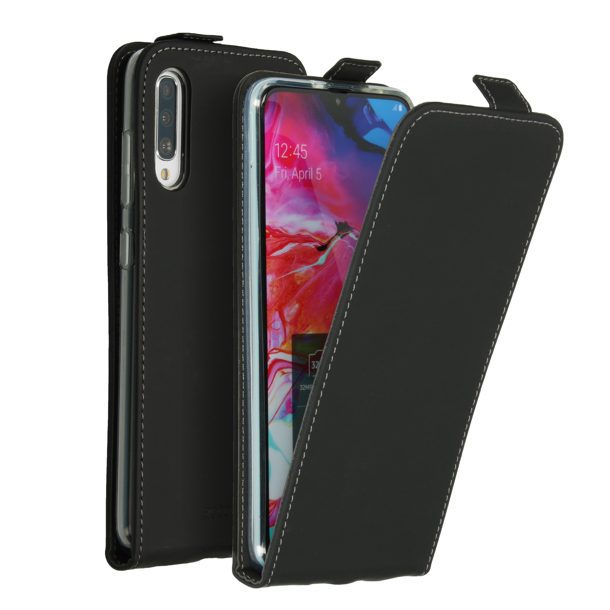 Accezz Flip Case Schwarz für das Samsung Galaxy A70