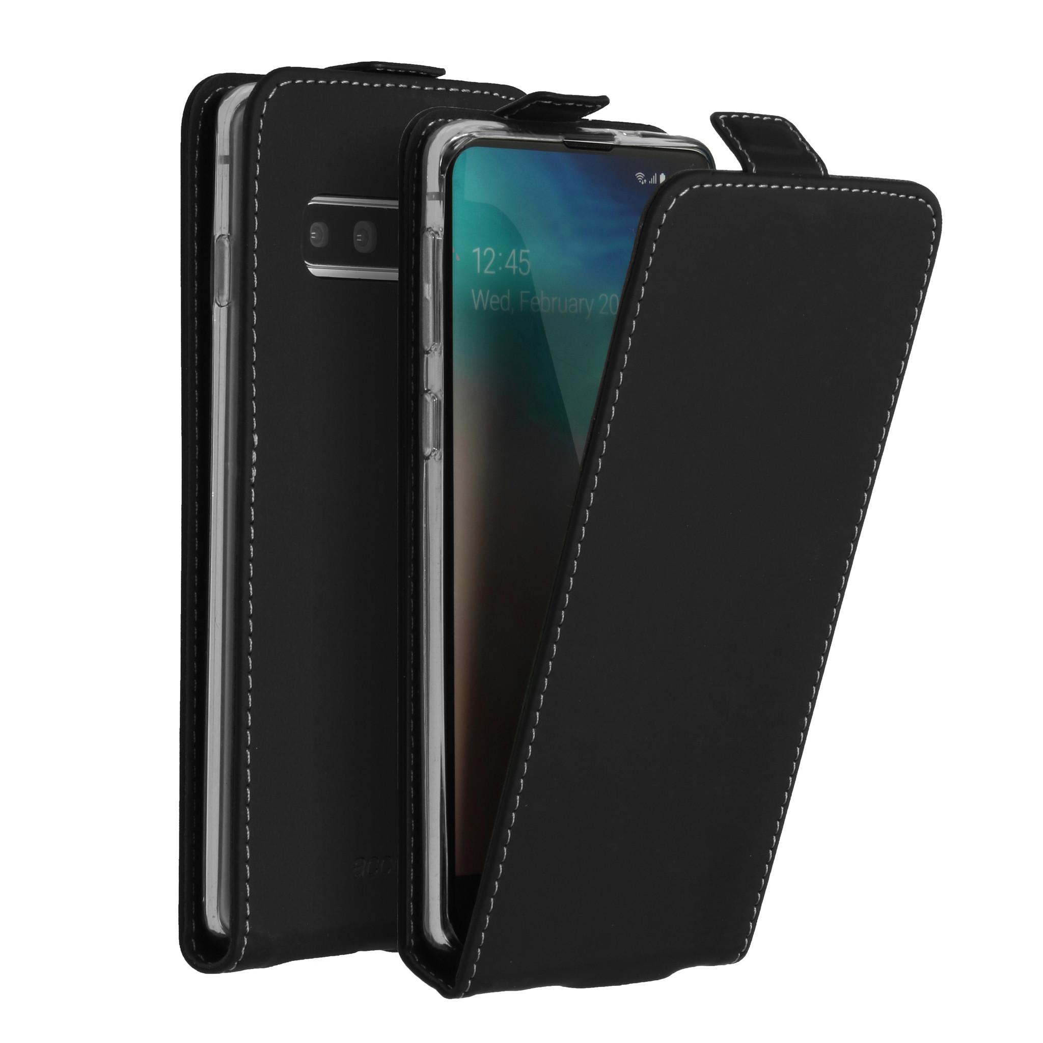 Accezz Flip Case Schwarz für das Samsung Galaxy S10