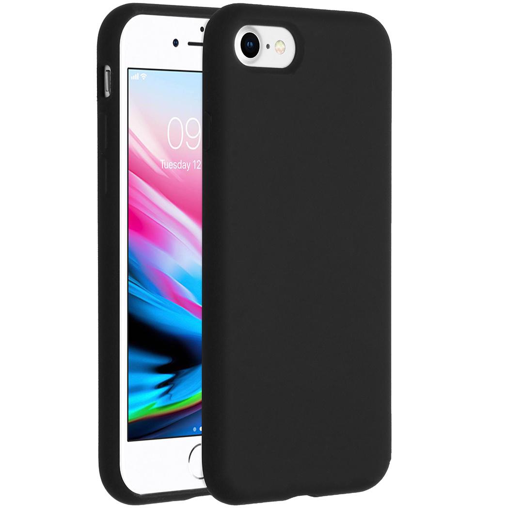 Accezz Liquid Silikoncase Schwarz für das iPhone SE (2020) / 8 / 7