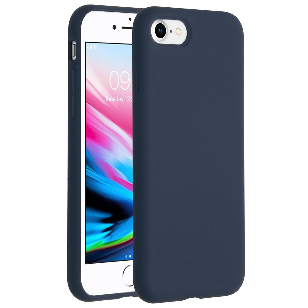 Accezz Liquid Silikoncase Blau für das iPhone SE (2020) / 8 / 7