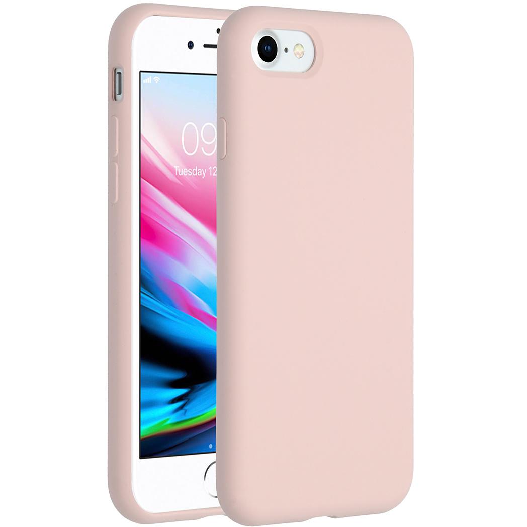 Accezz Liquid Silikoncase Rosa für das iPhone SE (2020) / 8 / 7