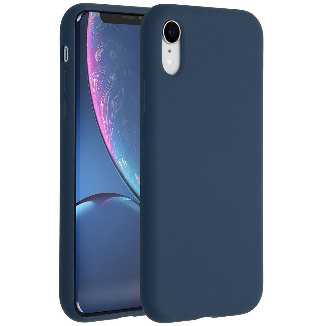 Accezz Liquid Silikoncase Blau für das iPhone Xr