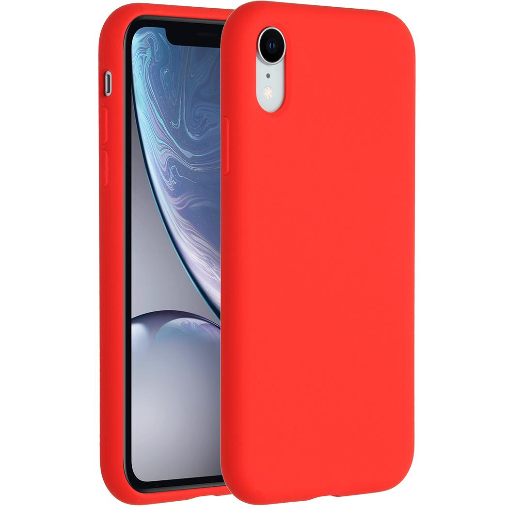Accezz Liquid Silikoncase Rot für das iPhone Xr