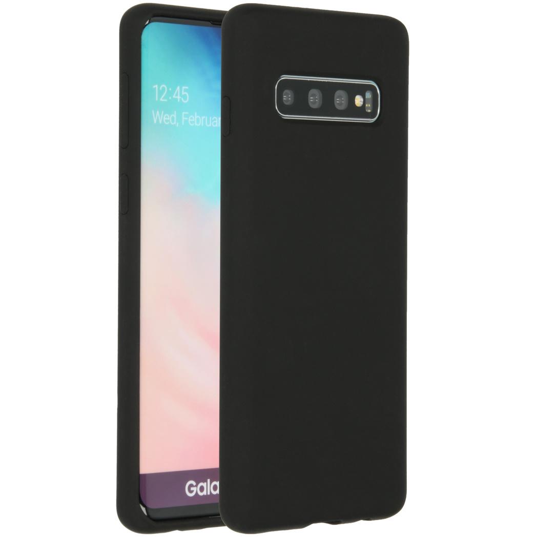 Accezz Liquid Silikoncase Schwarz für das Samsung Galaxy S10
