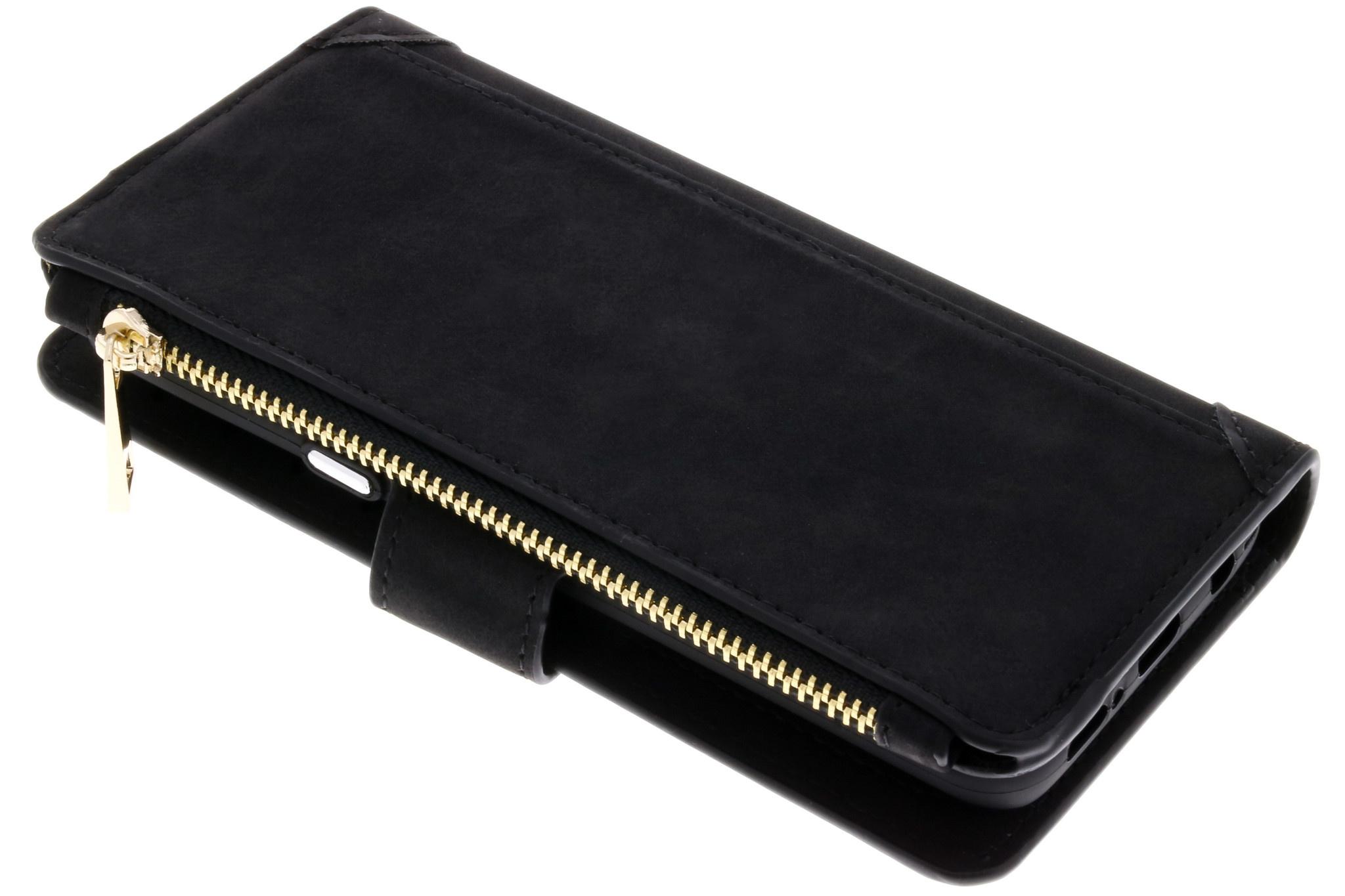 Schwarze Luxuriöse Portemonnaie-Hülle für Samsung Galaxy S9