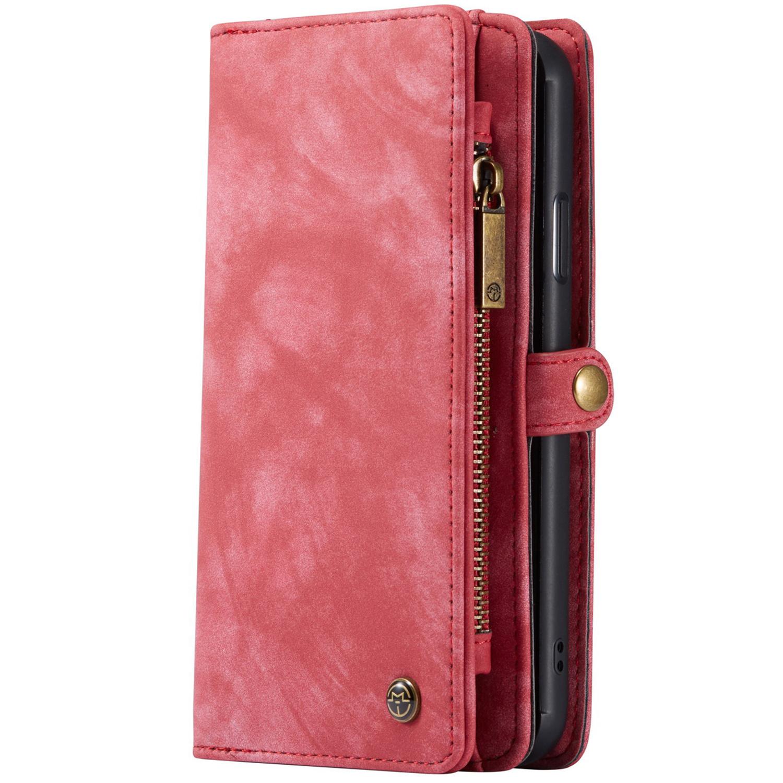 CaseMe Luxuriöse 2-in-1-Portemonnaie-Hülle Leder Rot iPhone 11 Pro