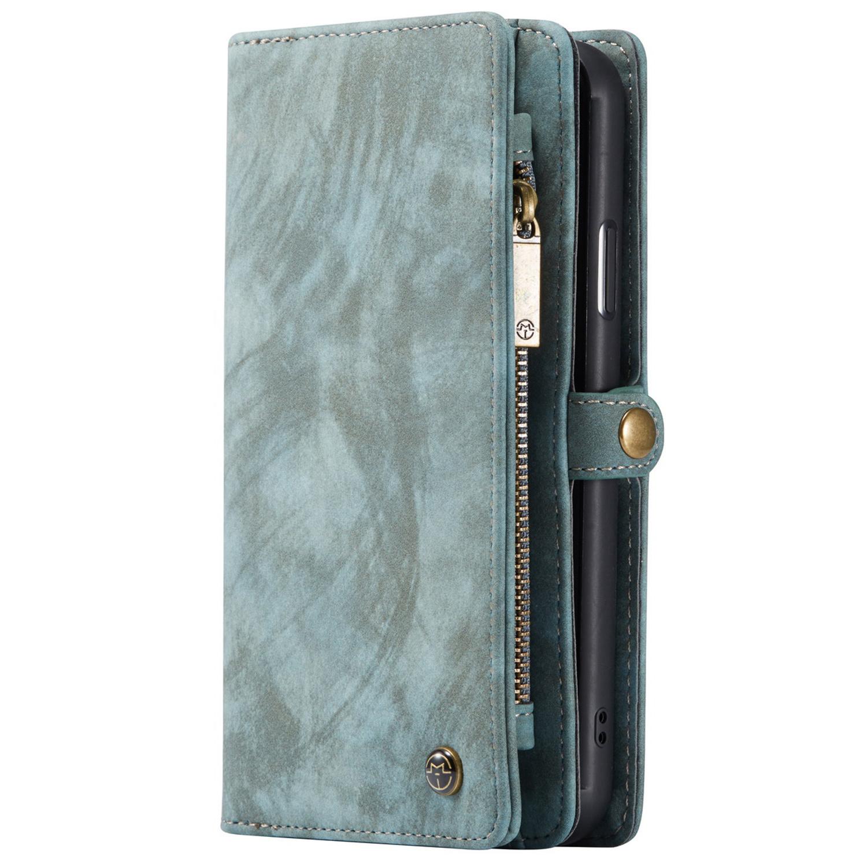CaseMe Luxuriöse 2-in-1-Portemonnaie-Hülle Leder Grün iPhone 11 Pro