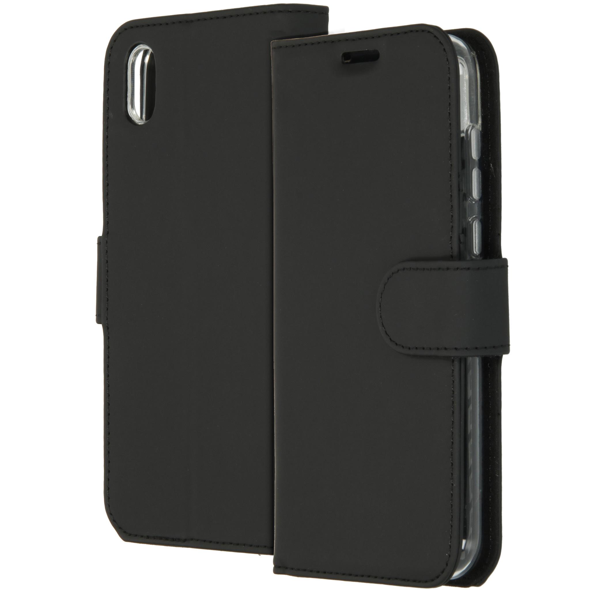 Accezz Wallet TPU Booklet Schwarz für das Huawei Y5 (2019)
