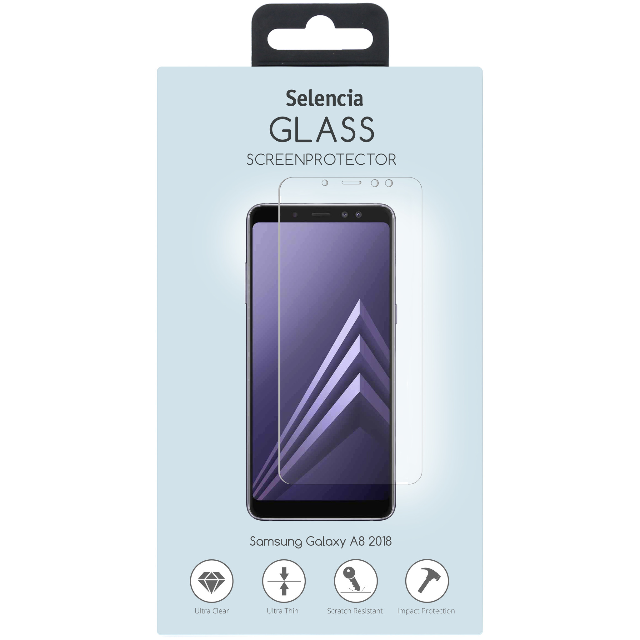 Selencia Displayschutz aus gehärtetem Glas Samsung Galaxy A8 (2018)