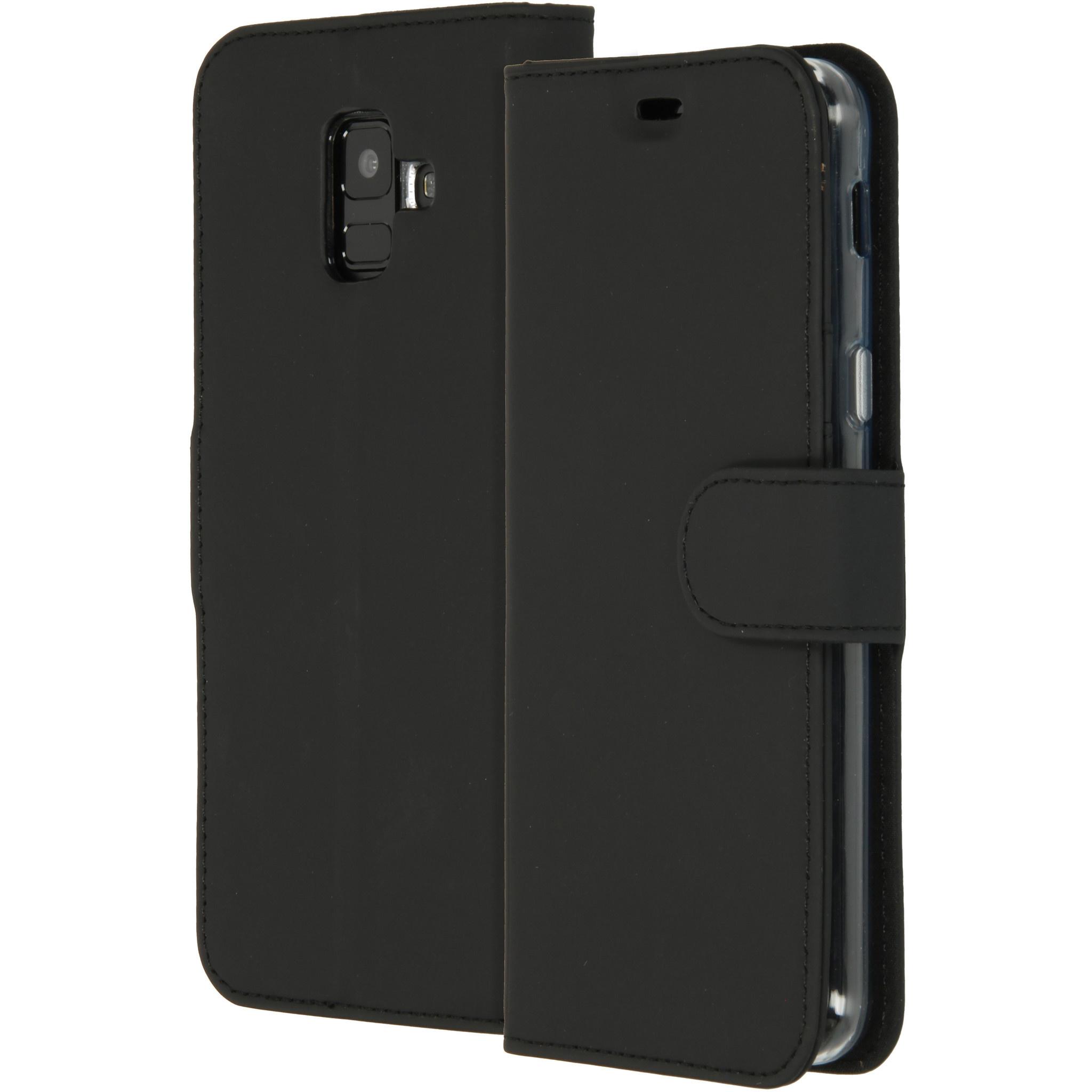 Accezz Schwarzes Wallet TPU Booklet Samsung Galaxy A6 (2018)