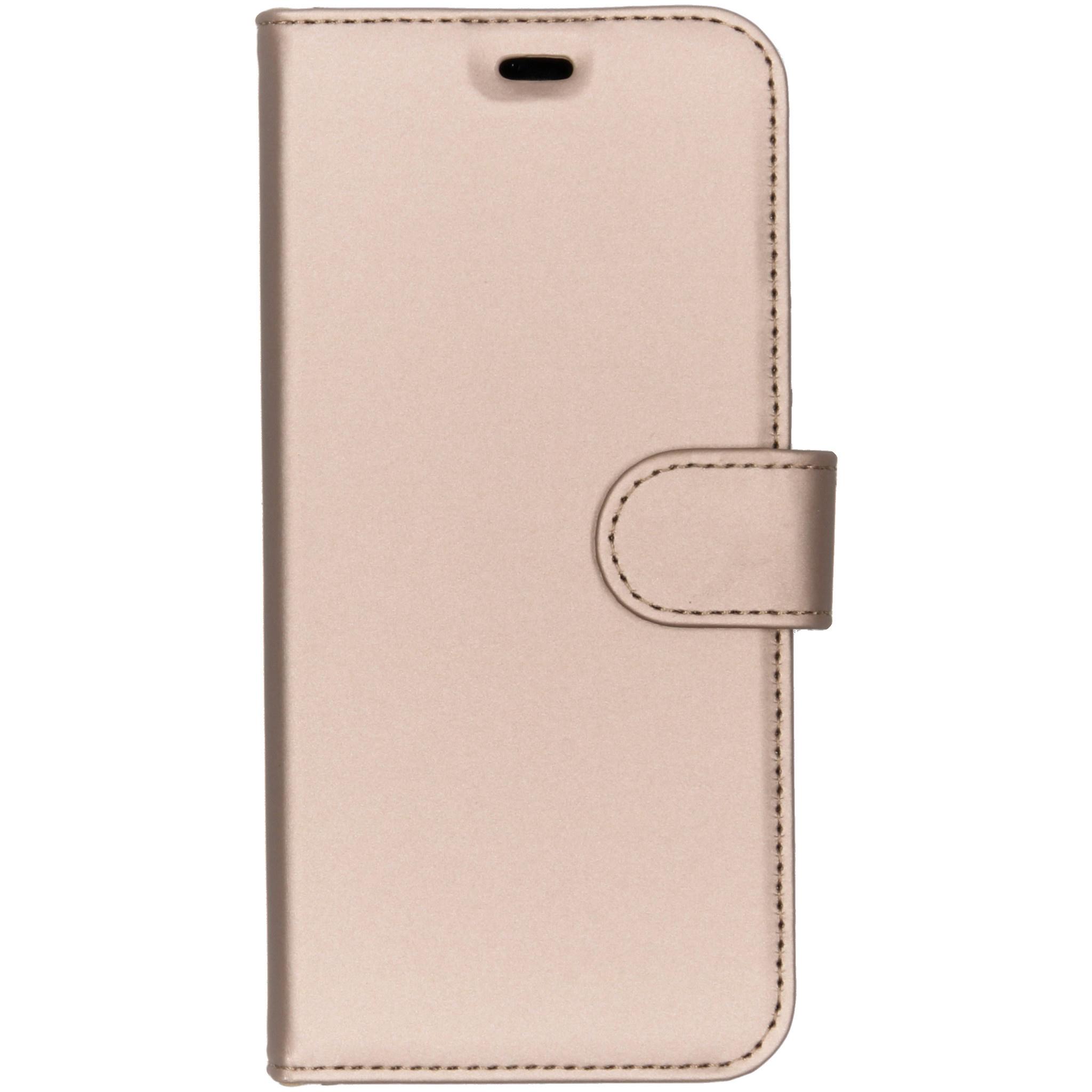 Accezz Goldfarbenes Wallet TPU Booklet für das Galaxy A6 (2018)