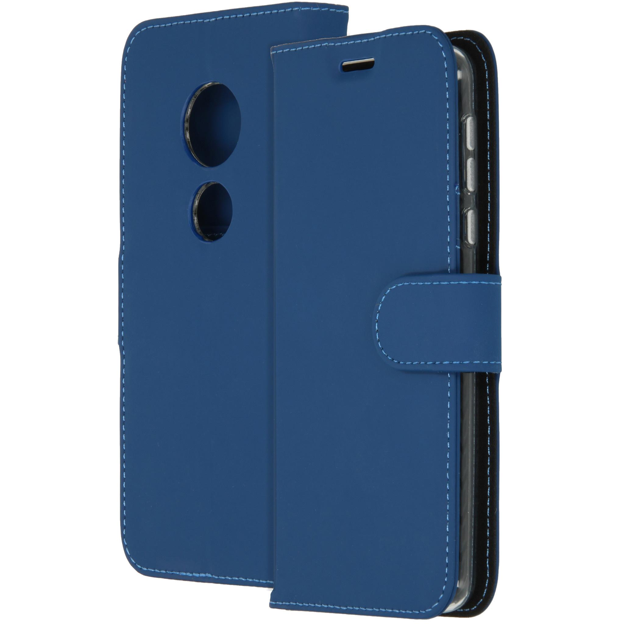 Accezz Wallet TPU Booklet Blau Motorola Moto E5 / G6 Play