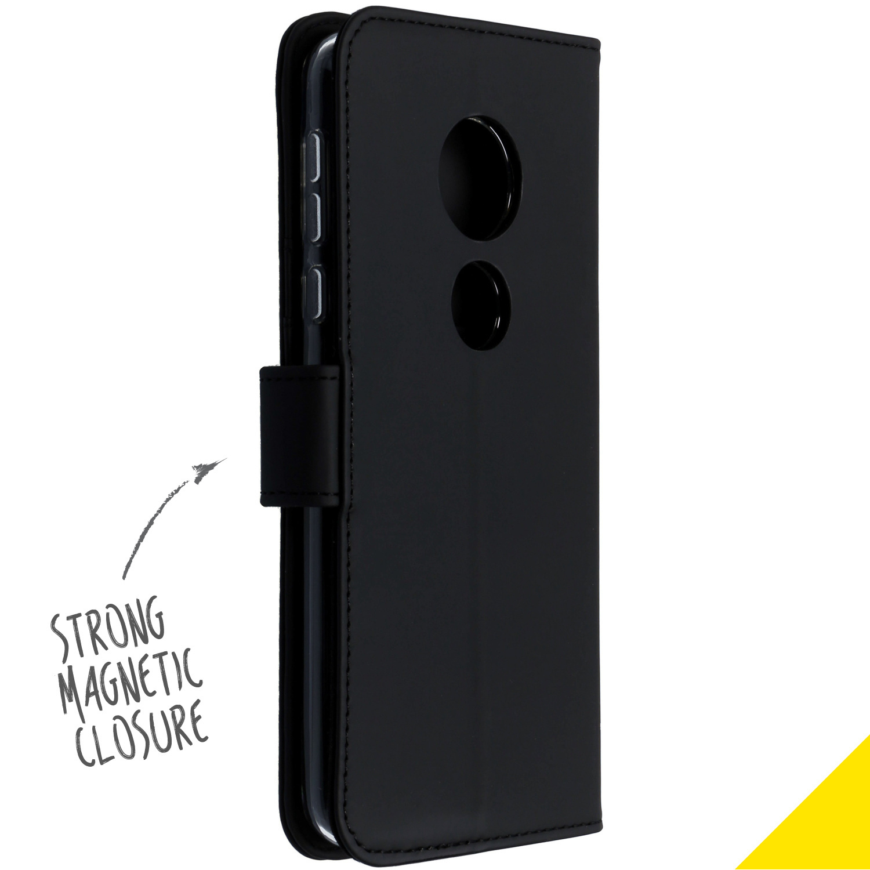 Accezz Wallet TPU Booklet Schwarz Motorola Moto E5 / G6 Play