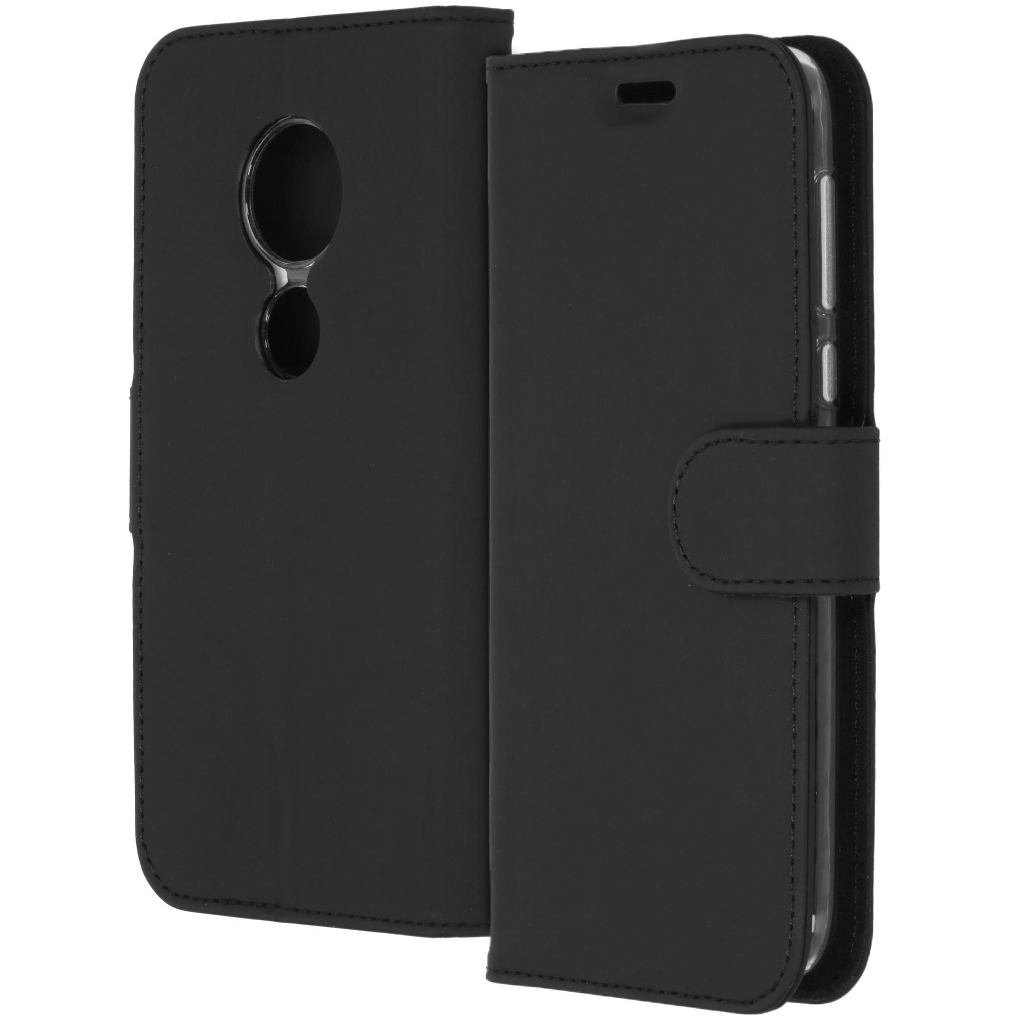 Accezz Wallet TPU Booklet Schwarz für das Motorola Moto G7 Play
