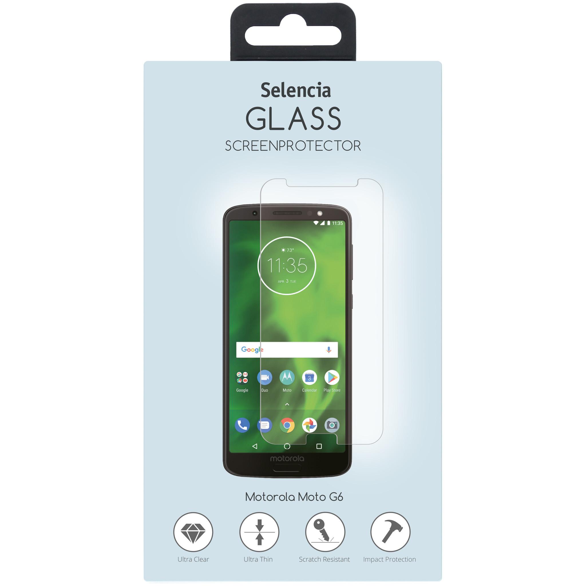Selencia Displayschutz aus gehärtetem Glas für das Motorola Moto G6