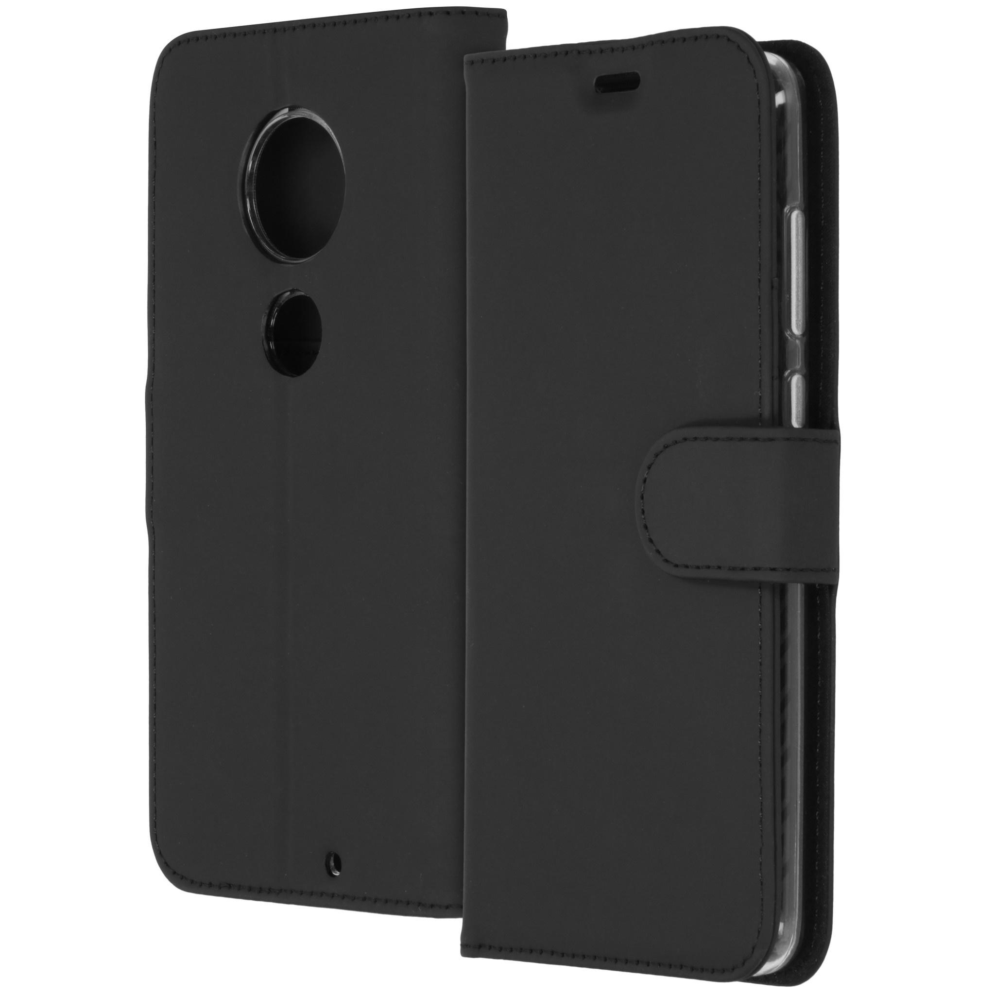 Accezz Wallet TPU Booklet Schwarz für Motorola Moto G7 / G7 Plus