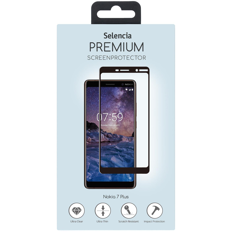 Selencia Edge to Edge Screen Protector gehärtetem Glas Nokia 7 Plus
