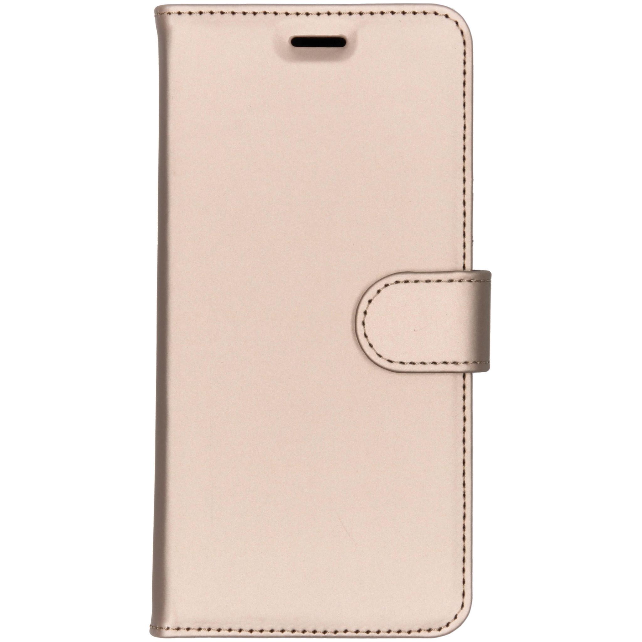 Accezz Goldenes Wallet TPU Booklet für das Nokia 7 Plus