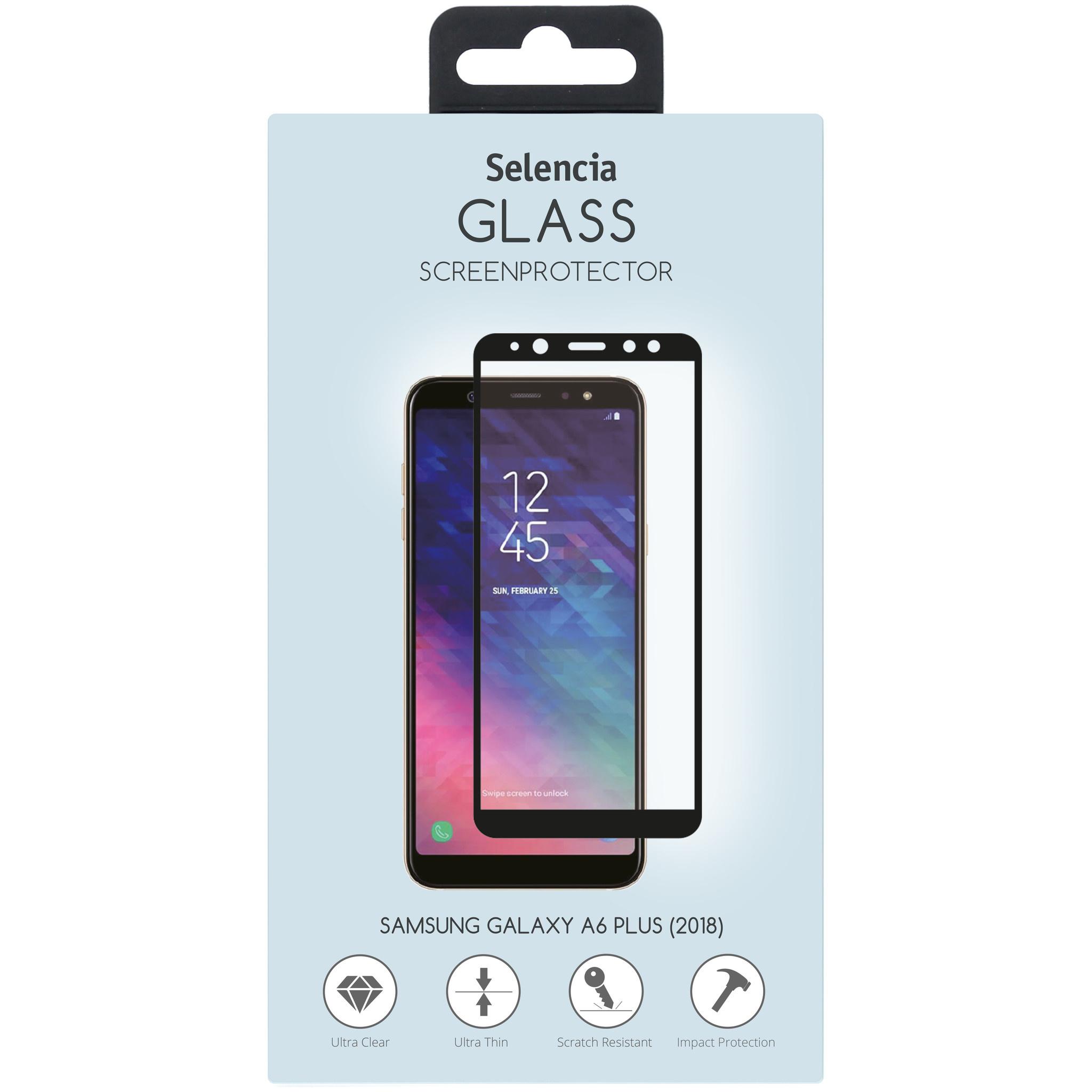 Selencia Displayschutz gehärtetem Glas Samsung Galaxy A6 Plus (2018)