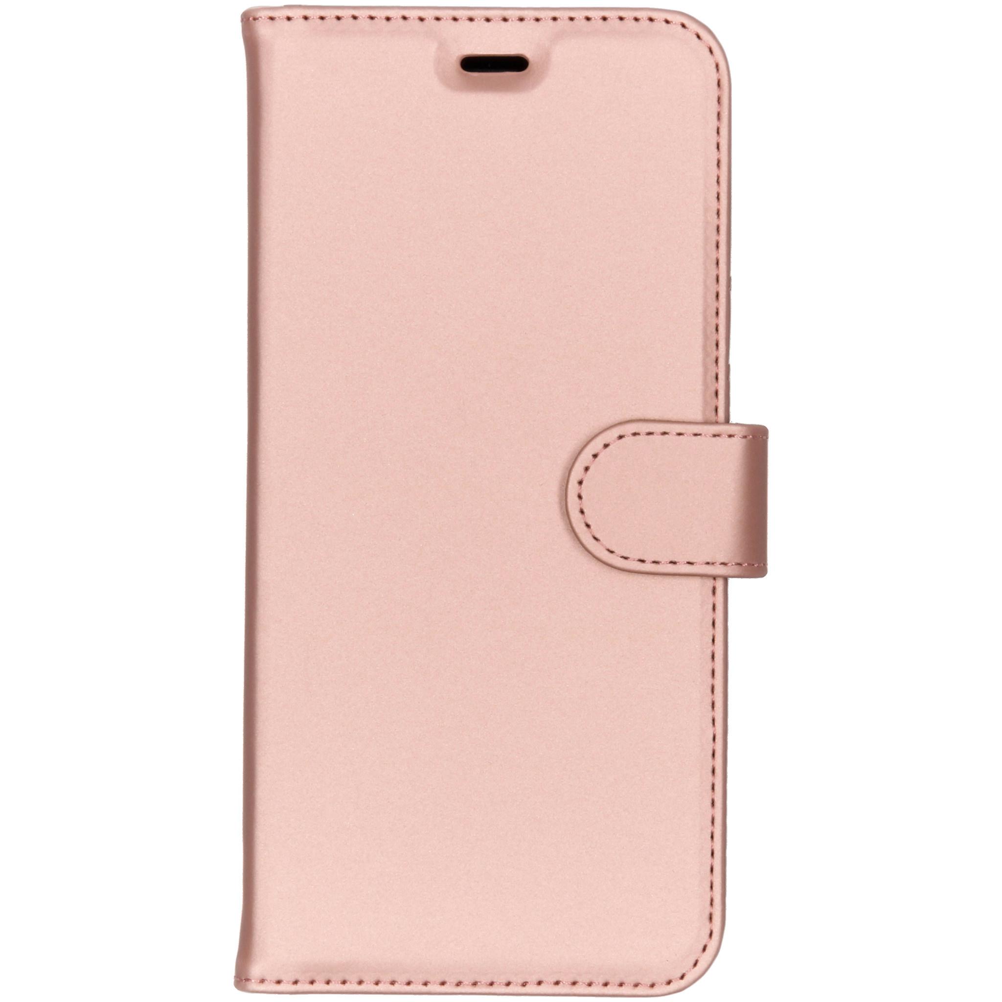 Accezz Roségoldenes Wallet TPU Booklet Samsung Galaxy A6 Plus(2018)