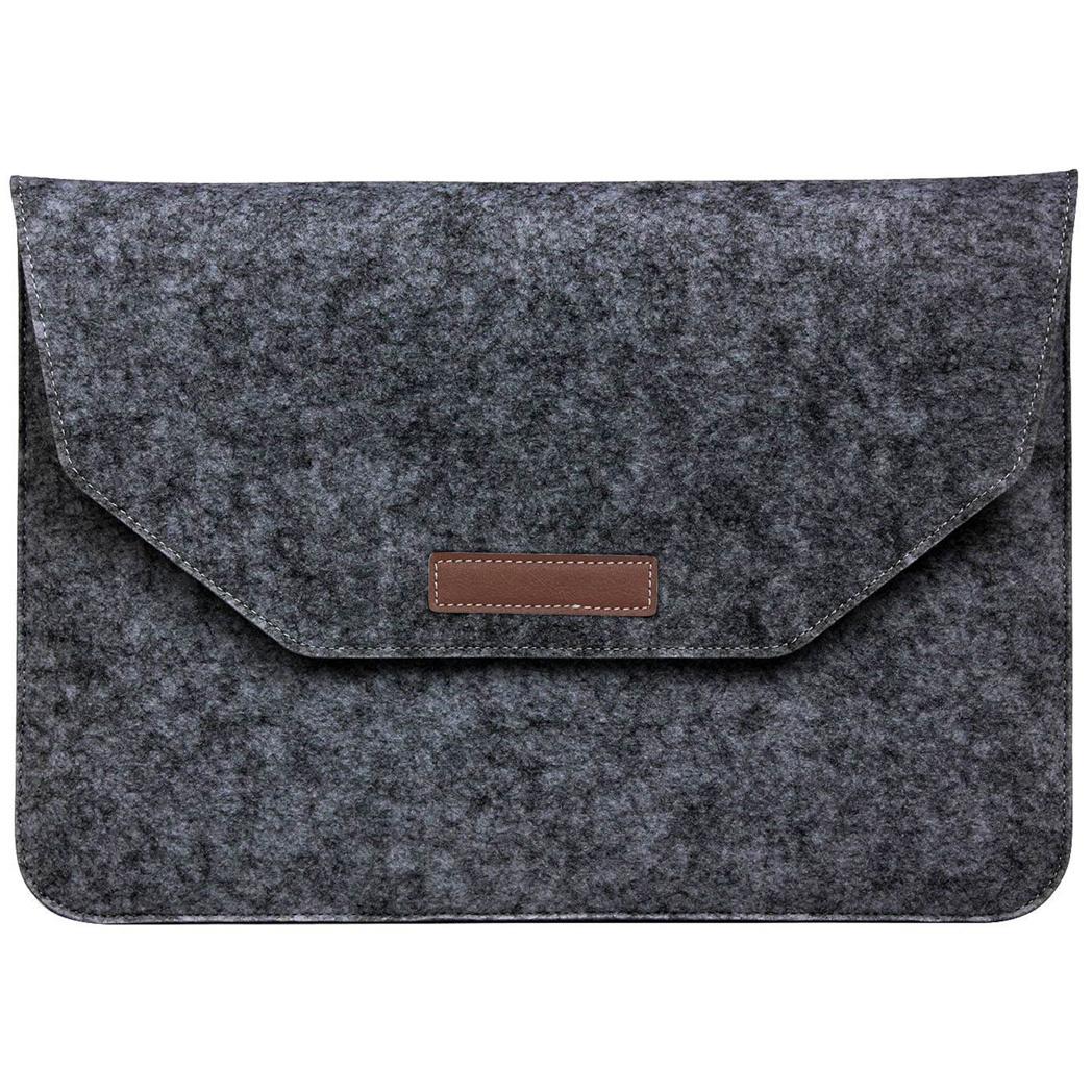 Soft Sleeve aus Filz 11-12 Zoll - Dunkelgrau