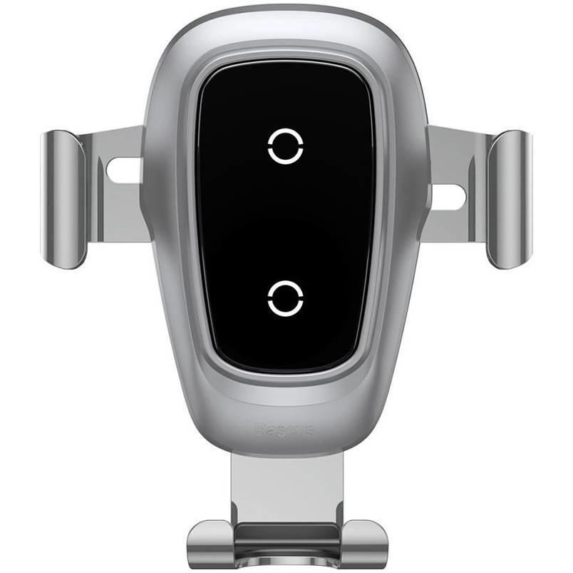 Baseus Metal Wireless Car Charger - Silber