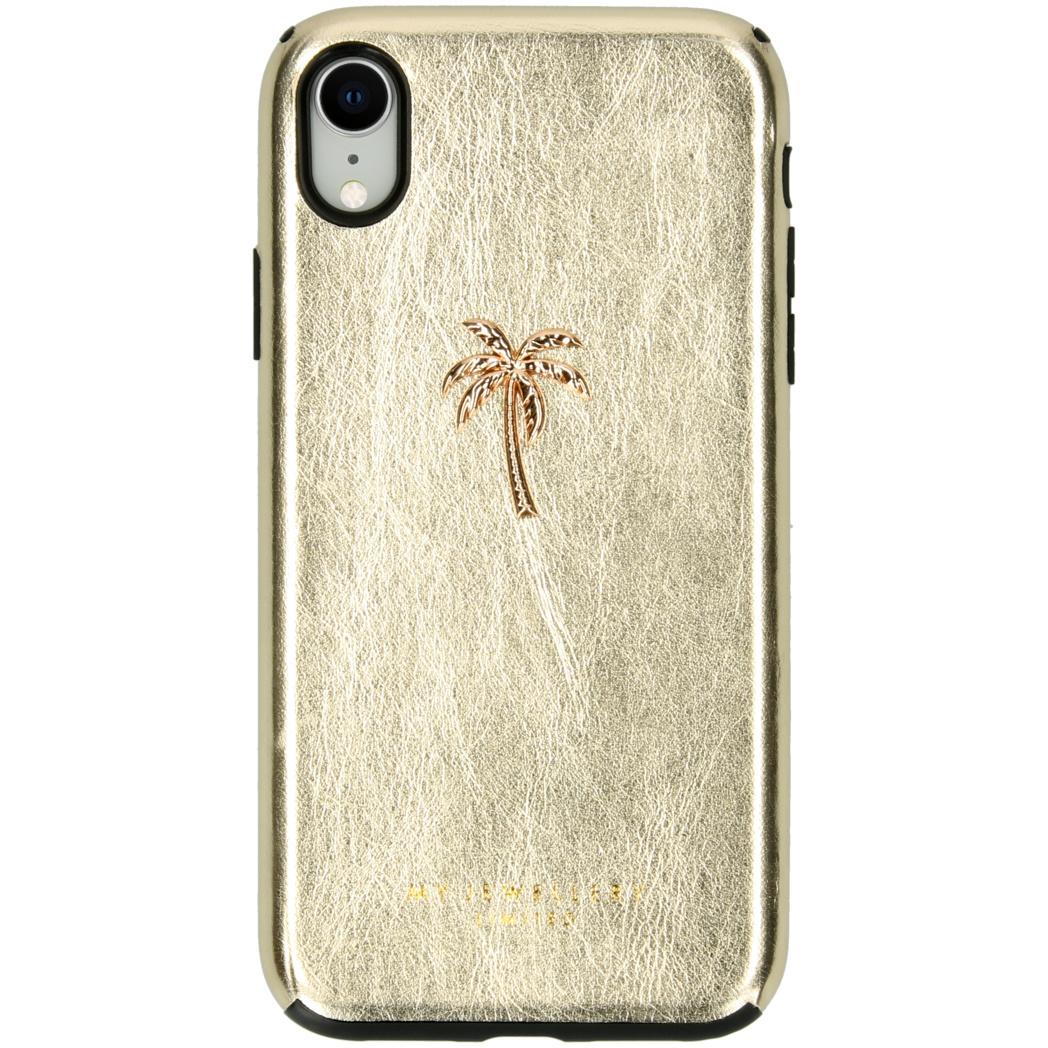 My Jewellery Design Soft Case für das iPhone Xr - Palmtree Gold