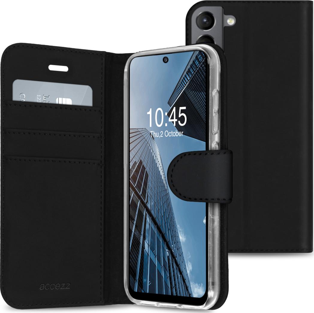 Accezz Wallet TPU Booklet für das Samsung Galaxy S21 FE - Schwarz