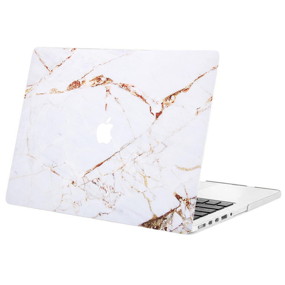 iMoshion Design Laptop Cover MacBook Pro 13 Zoll Retina -White Marble
