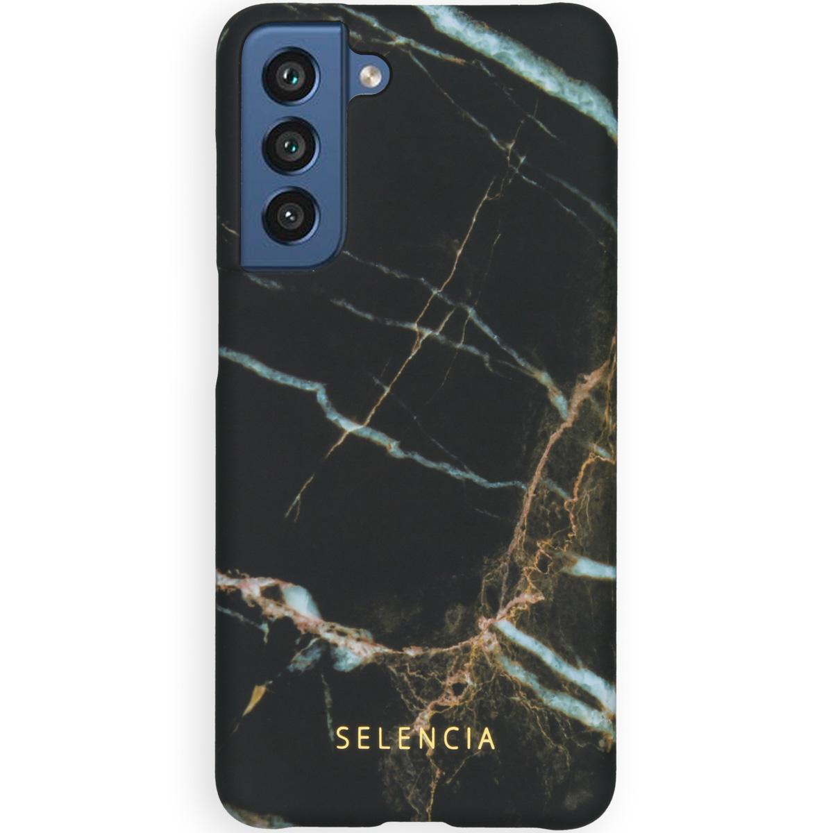 Selencia Maya Fashion Backcover Samsung Galaxy S21 FE - Marble Black
