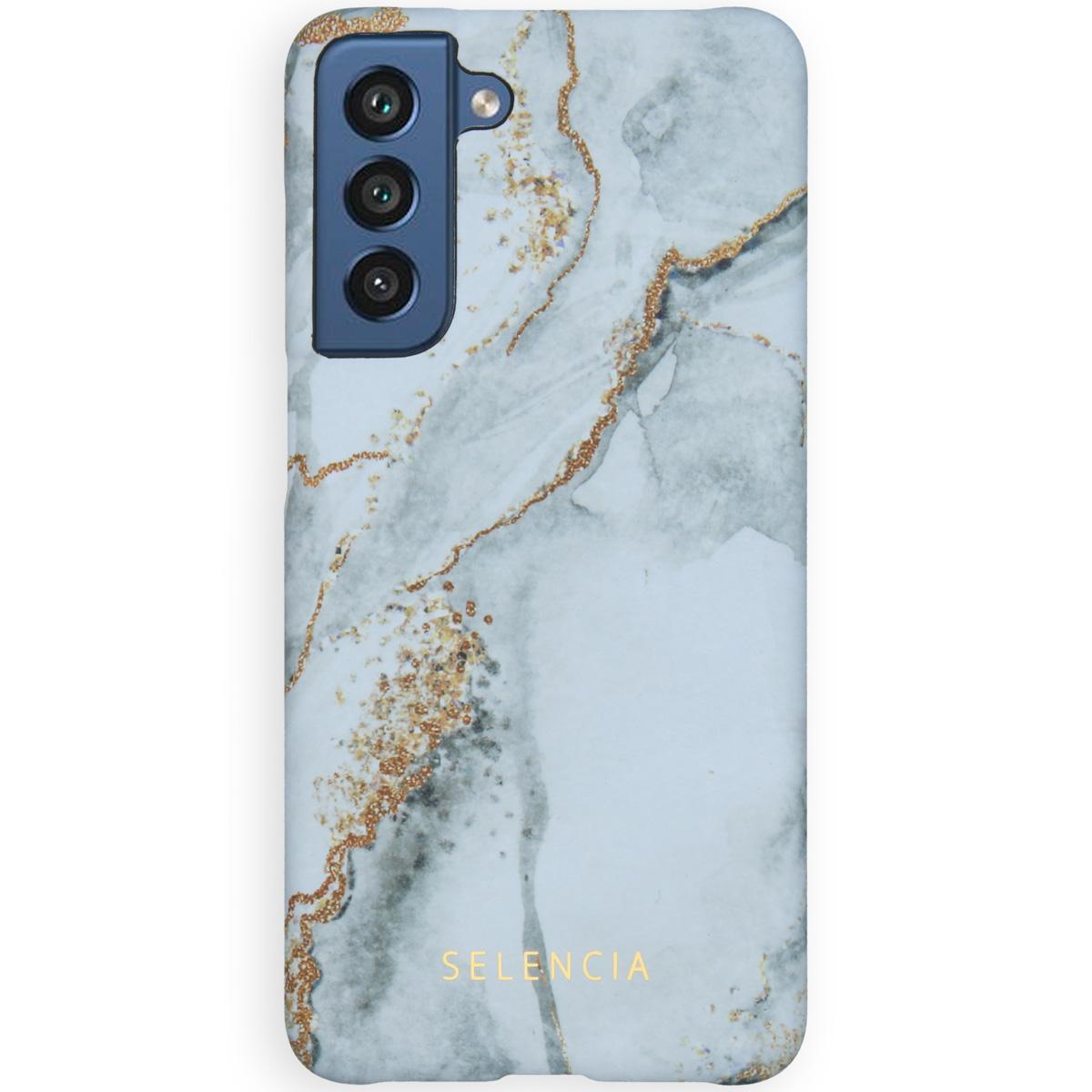 Selencia Maya Fashion Backcover Samsung Galaxy S21 FE - Marble Stone