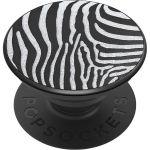 PopSockets Luxe PopGrip - Embossed Metal Zebra