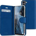 Accezz Wallet TPU Booklet für Samsung Galaxy S21 FE - Dunkelblau