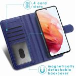 iMoshion Luxuriöse Portemonnaie-Hülle Galaxy S21 FE - Dunkelblau