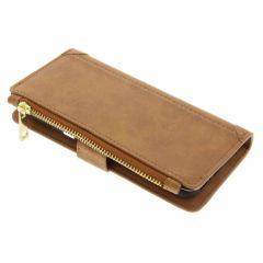 Braune luxuriöse Portemonnaie-Hülle für das Galaxy S8 Plus