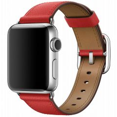Apple Leather Band Buckle für Apple Watch Series 1-7 / SE - 38/40mm - Rot