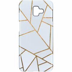 White Graphic Passion Hard Case Samsung Galaxy J6 Plus