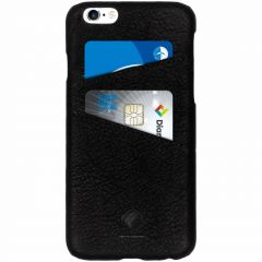 iMoshion Leather Back Cover Double Card Slot Schwarz iPhone 6 / 6s