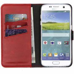 Selencia Echtleder Booktype Hülle Rot für das Samsung Galaxy S7