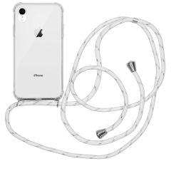 iMoshion Backcover mit Band Weiß Silber für das iPhone Xr