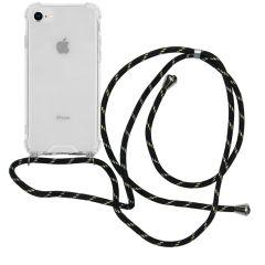 iMoshion Backcover mit Band Schwarz Gold iPhone SE (2020) / 8 / 7
