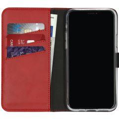Selencia Echtleder Booktype Hülle Rot für das iPhone 11 Pro