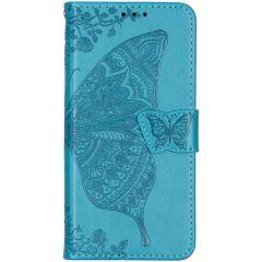Schmetterling Softcase Klapphülle Türkis Xiaomi Mi 9T (Pro)