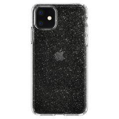 Spigen Liquid Crystal Glitter Case Silber iPhone 11