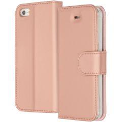 Accezz Wallet TPU Booklet für das iPhone 5 / 5s / SE - Roségold