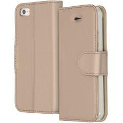 Accezz Goldfarbenes Wallet TPU Booklet für das iPhone 5 / 5s / SE