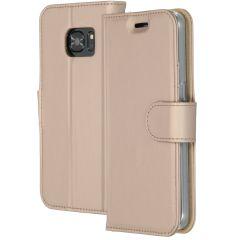 Accezz Goldfarbenes Wallet TPU Booklet für das Samsung Galaxy S7