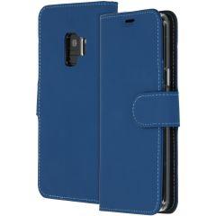 Accezz Blaues Wallet TPU Booklet für das Samsung Galaxy S9